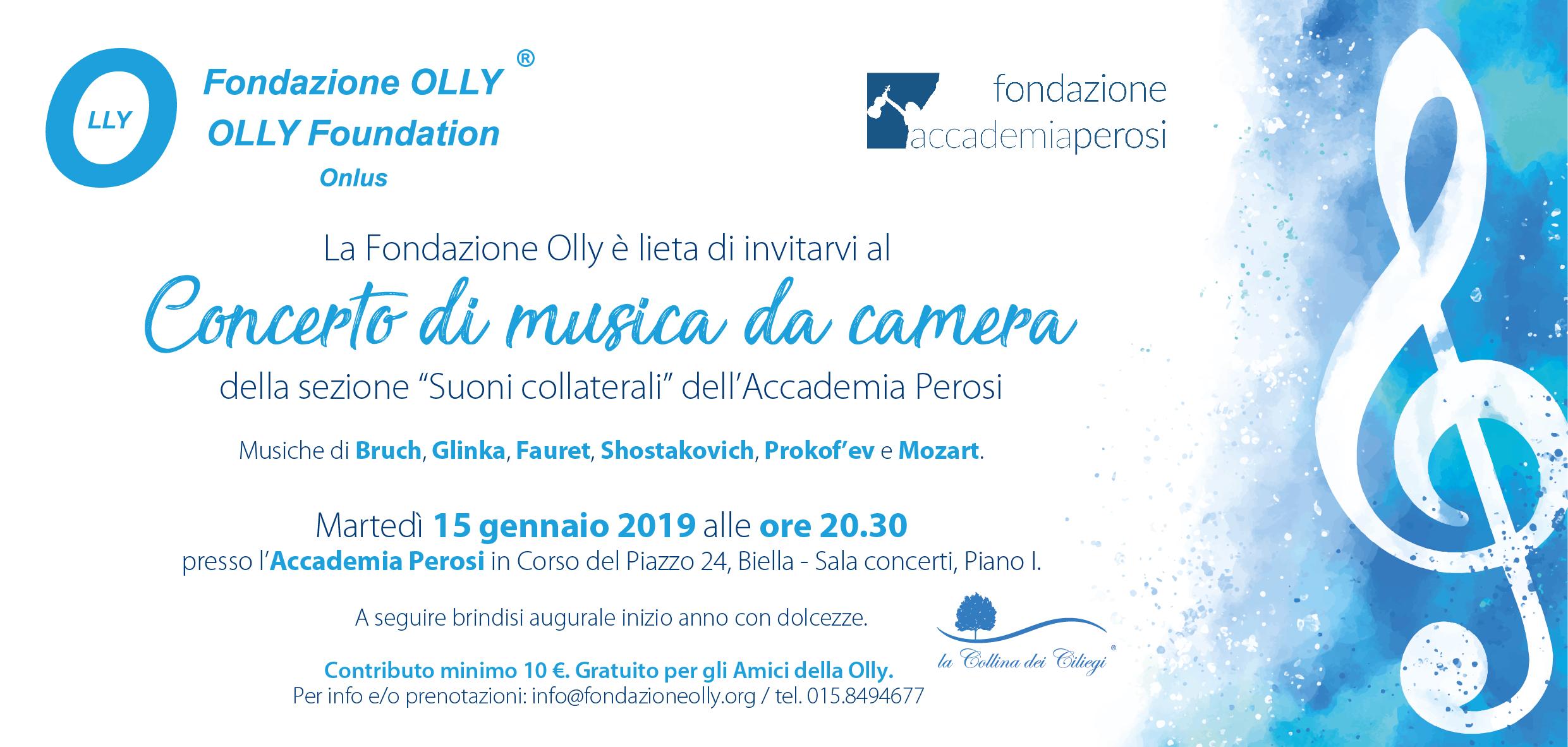 Concerto di musica da camera 15/01/2019